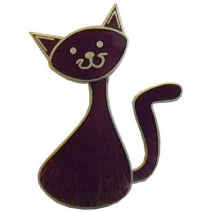 CacheCat (Cat) Geocoin - Purple / Satin Nickel